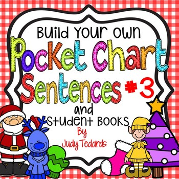 Pocket Chart Sentences With Student Books (Christmas Theme)