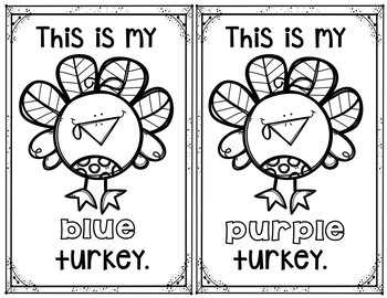 Pocket Chart Sentences With Student Books (Fall/Thanksgiving Theme)
