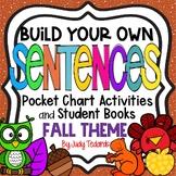 Pocket Chart Sentences With Student Books (Fall/Thanksgivi