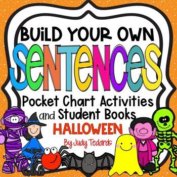 Pocket Chart Sentences With Student Books (Halloween Theme)