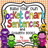 Pocket Chart Sentences With Student Books (Halloween Theme)