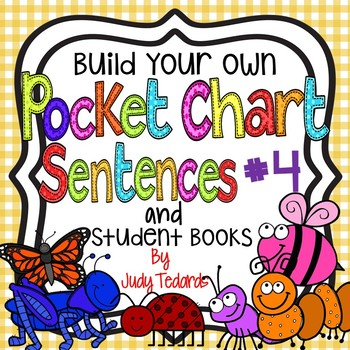 Pocket Chart Sentences With Student Books (Insect Theme)