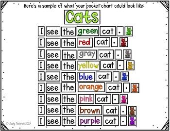 Pocket Chart Sentences With Student Books (Pet Theme)