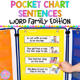 Pocket Chart Sentences and Picture Matching {Word Family Edition}