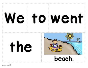 Sight Word Sentences for Pocket Charts Kindergarten and First ALL YEAR!