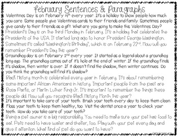 A Year of Mixed Up Sentences - Reading, Writing, & Sentence Building Activities