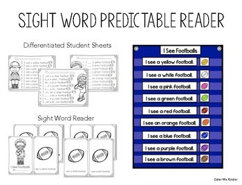 Pocket Chart Sight Word Center Football Edition: See