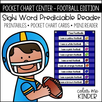 Pocket Chart Center Football Ed. Predictable Reader