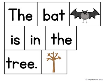 Pocket Chart Sight Word Sentences {Halloween Edition}