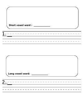 Pocket Chart Sort - Long and Short Vowels