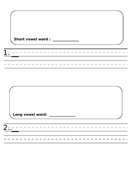 Pocket Chart Sort - Long and Short Vowels