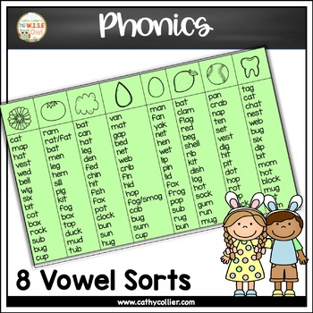 Pocket Chart Sorts: Spring Short Vowels