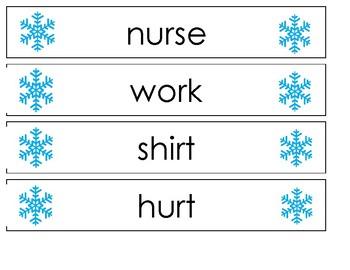 Pocket Chart Spelling December (Weeks 15-16)