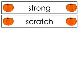 Pocket Chart Spelling October (Weeks 7-11)