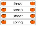 Pocket Chart Spelling October (Weeks 7-11)