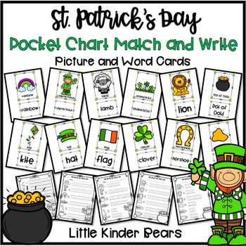 Pocket Chart St. Patrick's Day Picture & Word Cards