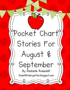 Pocket Chart Stories for August & September