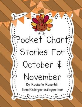 Pocket Chart Stories for October & November