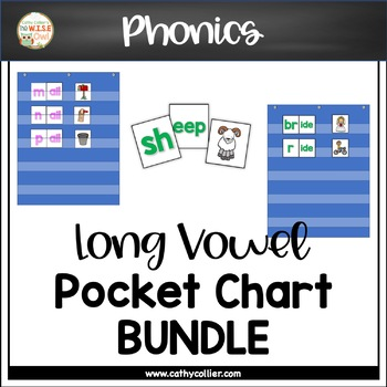 Pocket Chart Word Builders Set:  Long Vowel Bundle