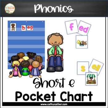 Pocket Chart Word Builders Set:  Short E