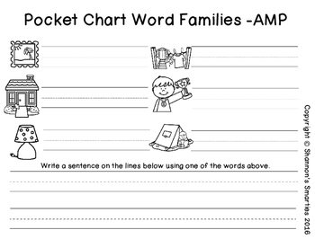 Pocket Chart Word Families (-AMP)