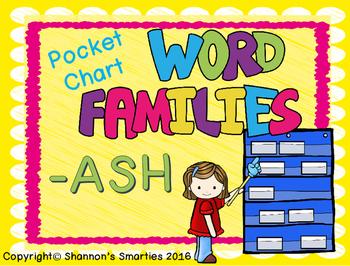 Pocket Chart Word Families (-ASH)
