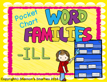 Pocket Chart Word Families (-ILL)