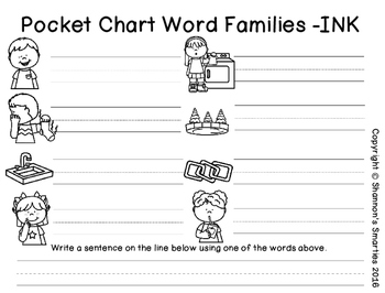 Pocket Chart Word Families (-INK)