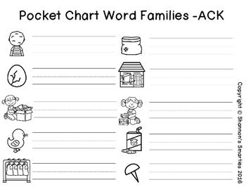 Pocket Chart Word Families (Short O Word Families) BUNDLE