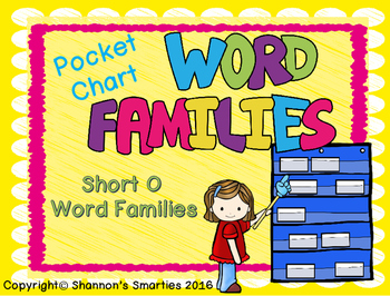 Pocket Chart Word Families (Short O Word Families) BUNDLE