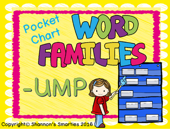 Pocket Chart Word Families (-UMP)