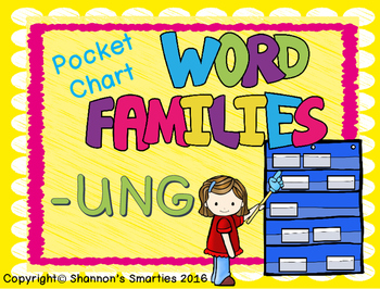 Pocket Chart Word Families (-UNG)