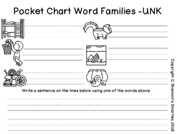 Pocket Chart Word Families (-UNK)