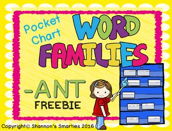 Pocket Chart Word Family (Short Vowel Word Families) BUNDLE