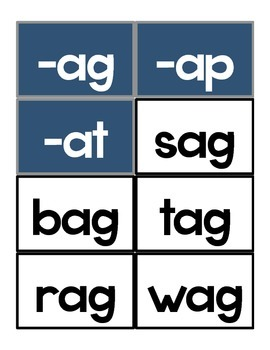 Pocket Chart Word Work Sorts (short vowels a, e, i, o, u)