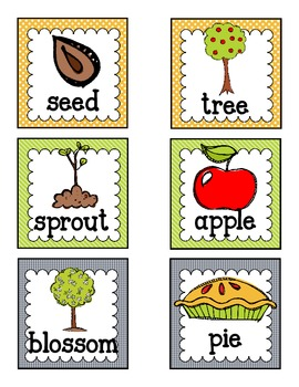 Pocket Chart Words for Writing: FALL