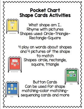 Pocket Chart Working with Shapes