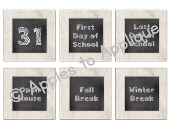 Pocket Chart or Linear Calendar in Chalkboard Theme