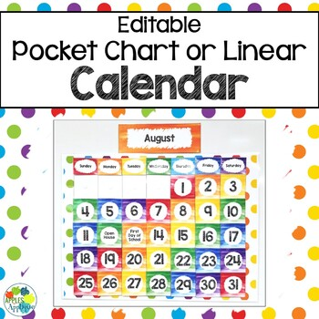 picture about Printable Classroom Calendar known as Clroom Calendar within just Rainbow Topic