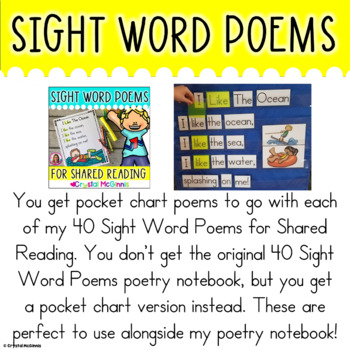 Pocket Charts! 40 Sight Word Poems for Shared Reading (Pocket Chart Version)