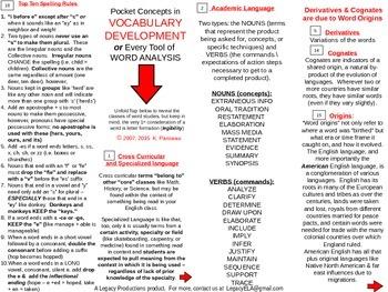 Pocket Concepts_Vocabulary Development & Word Analysis