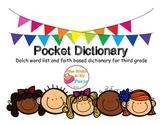 Pocket Dictionary-Dolch Words- Faith Based-Third Grade