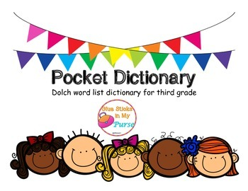Pocket Dictionary-Dolch Words- Third Grade