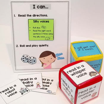 Pocket Dice Cards: Sight Words