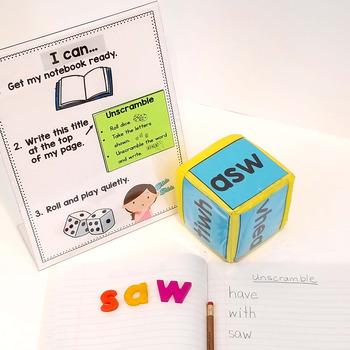 Pocket Dice Cards: Sight Words