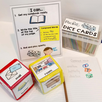 Pocket Dice Cards: Word Work