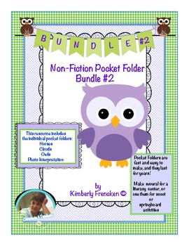 Pocket Folder Bundle #2- Non-Fiction Literacy Centers for close reading