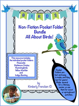 Pocket Folder Bundle: Non-Fiction Literacy Center, Scoot or Springboard Activity