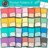Rainbow Pocket Folder Clip Art {Back to School Supplies for Resources} 2