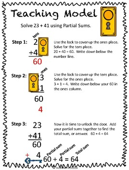 Pocket Folder Math Centers- Double Digit Addition with Partial Sums
